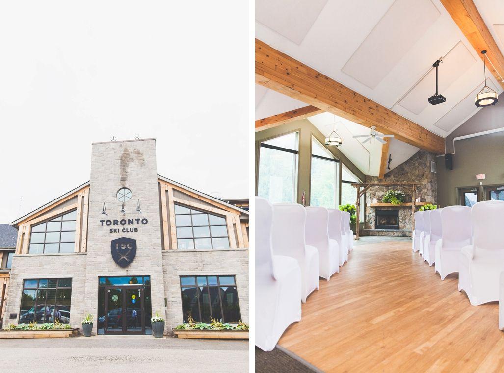 Wedding ceremony at Toronto Ski Blub