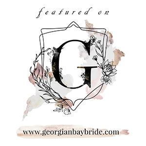 Featured on Georgian Bay Bride